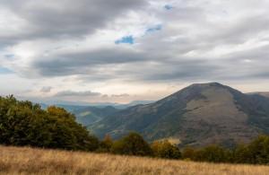 Cloudy mountain vista
